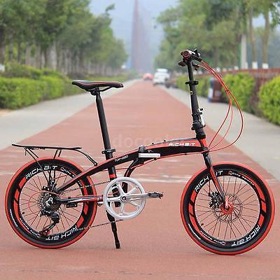 20-Folding-Bike-7-Speed-Bicycle-Fold-Storage-BLACK-School-Sports-Shimano-A55W-0-1