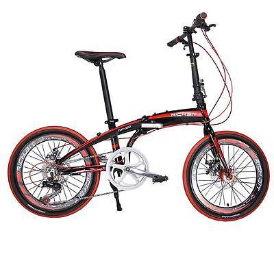 20-Folding-Bike-7-Speed-Bicycle-Fold-Storage-BLACK-School-Sports-Shimano-A55W-0-2