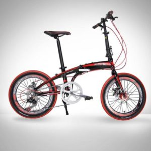 20-Folding-Bike-7-Speed-Bicycle-Fold-Storage-BLACK-School-Sports-Shimano-A55W-0
