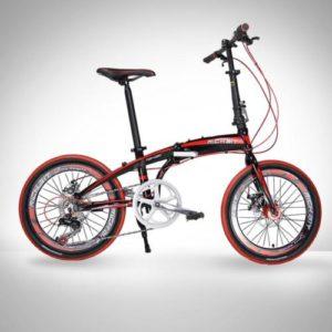20-Folding-Bike-7-Speed-Bicycle-Fold-Storage-BLACK-School-Sports-Shimano-A55W-0