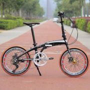 20-Folding-Bike-7-Speed-Bicycle-Fold-Storage-Orange-School-Sports-Shimano-A69W-0-0
