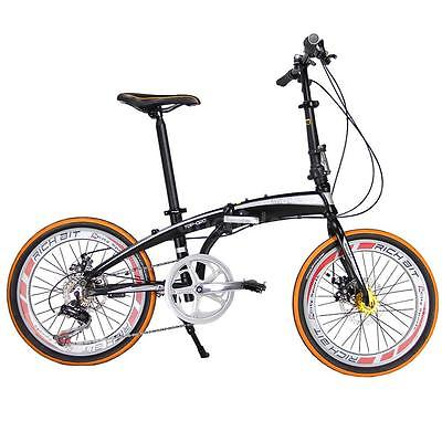 20-Folding-Bike-7-Speed-Bicycle-Fold-Storage-Orange-School-Sports-Shimano-A69W-0-3