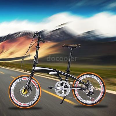 20-Folding-Bike-7-Speed-Bicycle-Fold-Storage-Orange-School-Sports-Shimano-A69W-0-4