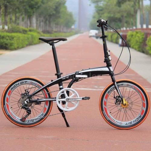 20-Folding-Bike-7-Speed-Bicycle-Fold-Storage-Orange-School-Sports-Shimano-A69W-0