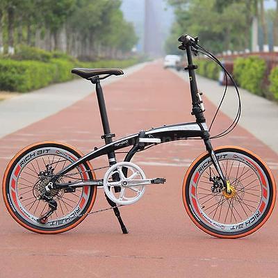 20-Folding-Bike-7-Speed-Bicycle-Fold-Storage-School-Sports-city-Shimano-UU-U7H6-0-2