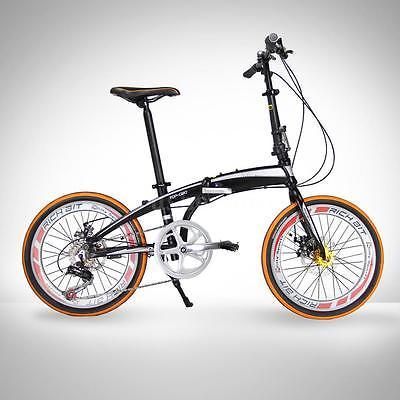 20-Folding-Bike-7-Speed-Bicycle-Fold-Storage-School-Sports-city-Shimano-UU-U7H6-0-3
