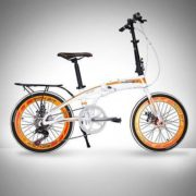 20-Folding-Bike-7-Speed-Bicycle-Fold-Storage-WHITE-School-Sports-Shimano-A5E5-0-2