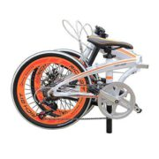 20-Folding-Bike-7-Speed-Bicycle-Fold-Storage-WHITE-School-Sports-Shimano-A5E5-0-3