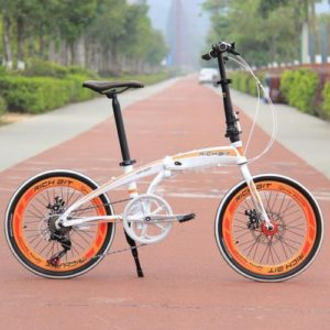 20-Folding-Bike-7-Speed-Bicycle-Fold-Storage-WHITE-School-Sports-Shimano-A5E5-0
