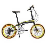 20-Folding-Bike-7-Speed-Bicycle-Fold-Storage-Yellow-School-Sports-Shimano-A5YV-0-1