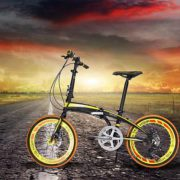 20-Folding-Bike-7-Speed-Bicycle-Fold-Storage-Yellow-School-Sports-Shimano-A5YV-0-2