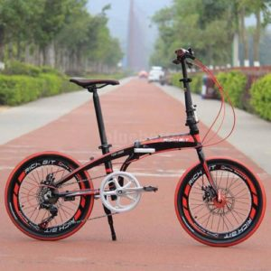 Lightweight-20-Folding-Bike-7-Speed-Bicycle-Storage-College-School-Sport-BB-0