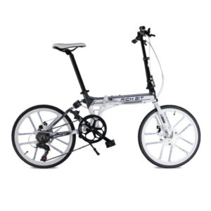 Richbit-RT023-Updated-White-Suspension-Frame-Shinamo-7-Gears-20-Folding-Bike-0