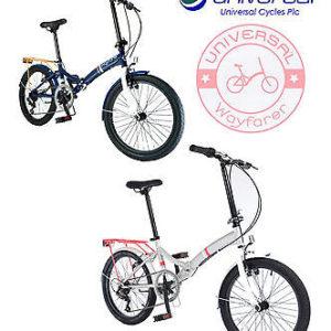 Universal-Wayfarer-20-Folding-Bike-Blue-or-White-1-Year-Manufacturer-Warranty-0