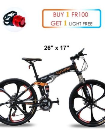Cyrusher-MTB-Folding-Mountain-Bike-26-In-24-Speeds-Full-Suspension-not-ebike-0