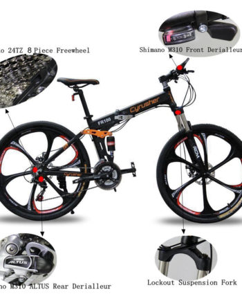 Cyrusher-MTB-Folding-Mountain-Bike-26-In-24-Speeds-Full-Suspension-not-ebike-0-6