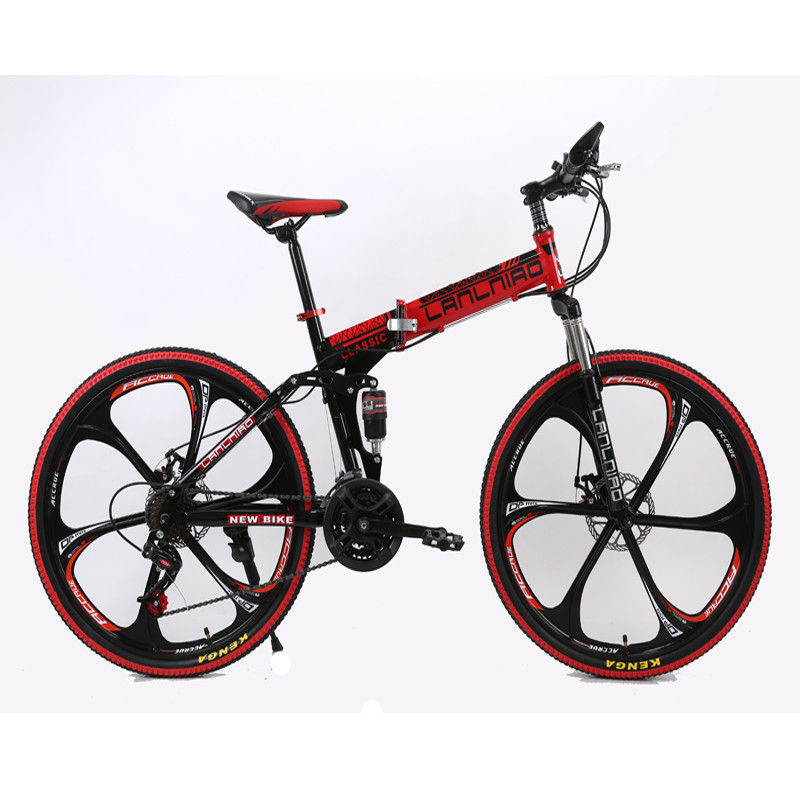 f9d2ddba5b3 Folding Mountain Bike 21 Speed Double Damping 6 Knife Wheel and 3 ...