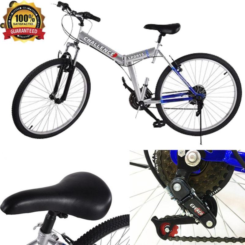 Sport Cycling 26 Inch Pop Folding Mountain Bike Portable Road