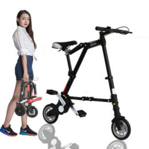 "Folding Bike 8"" Mini Aluminum Alloy Travel Lightweight Portable Foldable Bicycle"