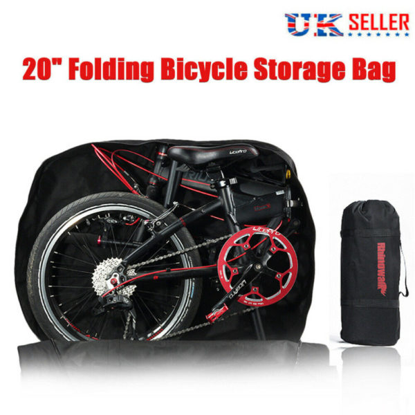Portable Folding Bike Carry Bag Strong Heavy Duty Bicycle Cycle Travel Storage