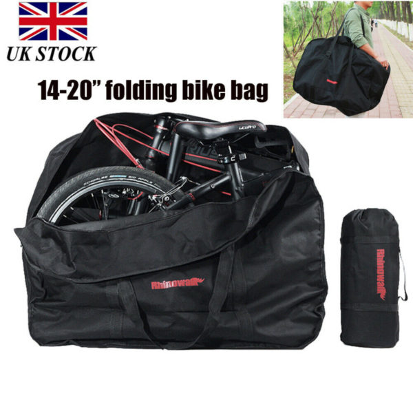 "Portable Folding Bike Transportation Bag Carrier Storage Case for 14-20"" Bicycle"