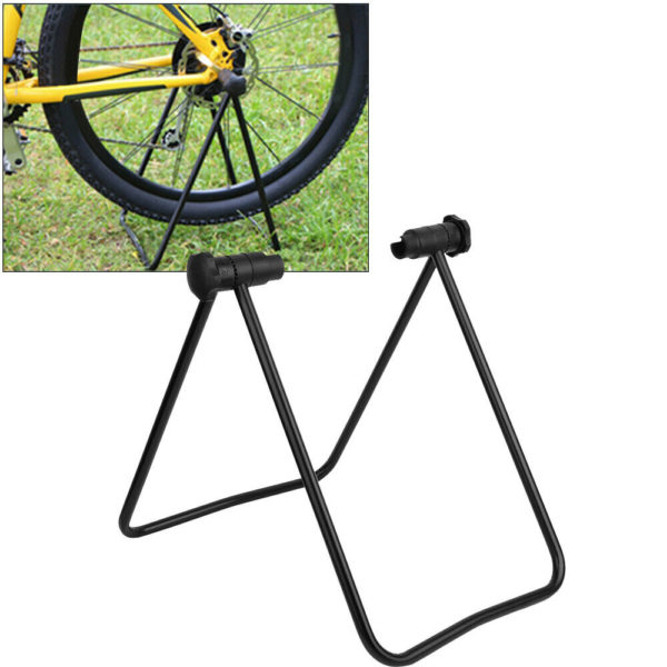 Adjustable Folding Bike Stand  Floor Parking Display Rack Bicycle Storage Holder