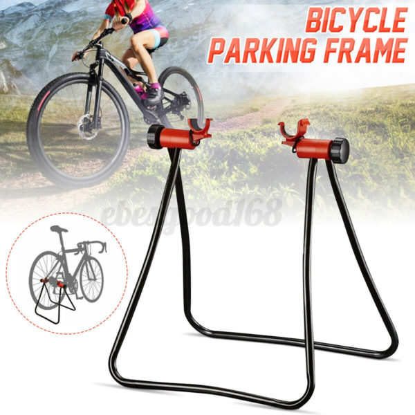 Folding Bicycle Trainer Stationary Bike Cycle Stand Exercise Training Mount Rack