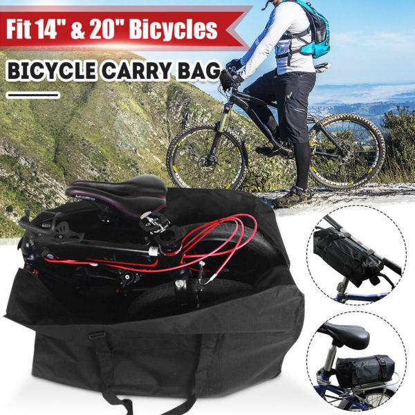 UK Folding Bicycle Carrier Bag Carry Cover for Dahon 14-20'' Mountain Bike Tote