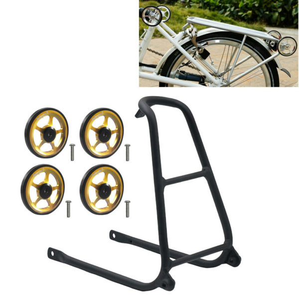 Folding Bike Easywheel Easy Wheel For Brompton Cargo Rack EZ Wheels