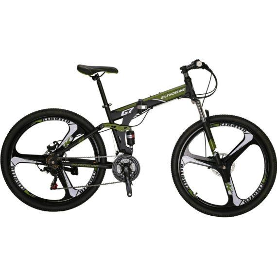 """Folding Bike 21 Speed Full Suspension Mountain Bicycle 27.5"""" Daul Disc Brake MTB"""