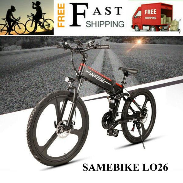 SAMEBIKE LO26 26inch Moped Electric Bike Smart Folding Bike E-bike 35km/h N4Q4