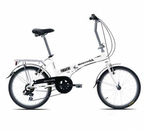 "Folding Bike CARATT C170 White Compact Folding Aluminum New 6 Vit 20 "" Alu"