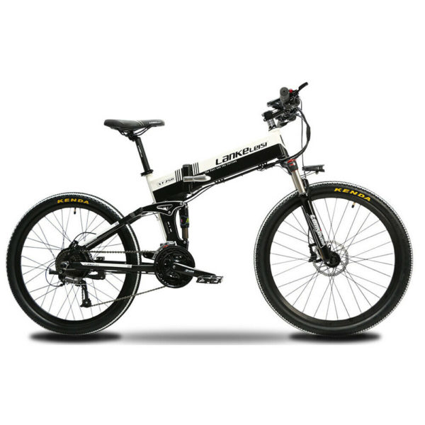 XT750 Electric Bike 500W 48V Folding Bike Electric Mountain Bike 27 Speeds EBike