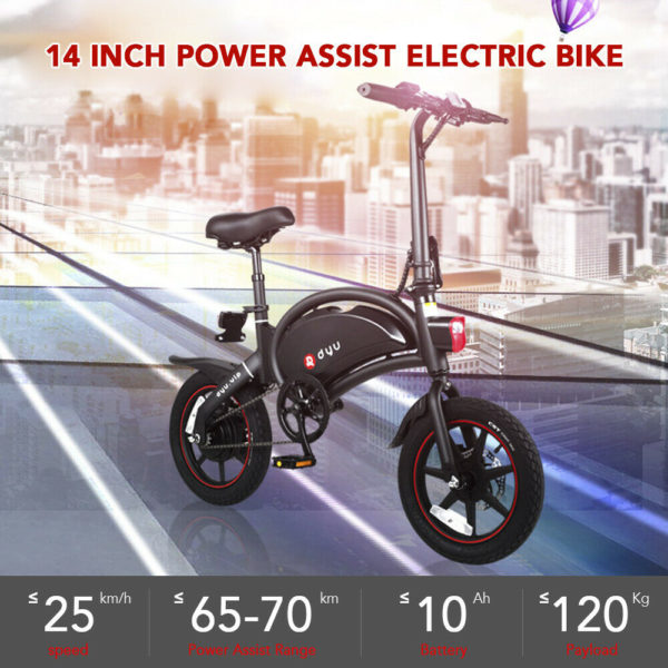 Electric Folding Bicycle 250W 25km/H City EBike Urban Commuting Short Trip W9T2
