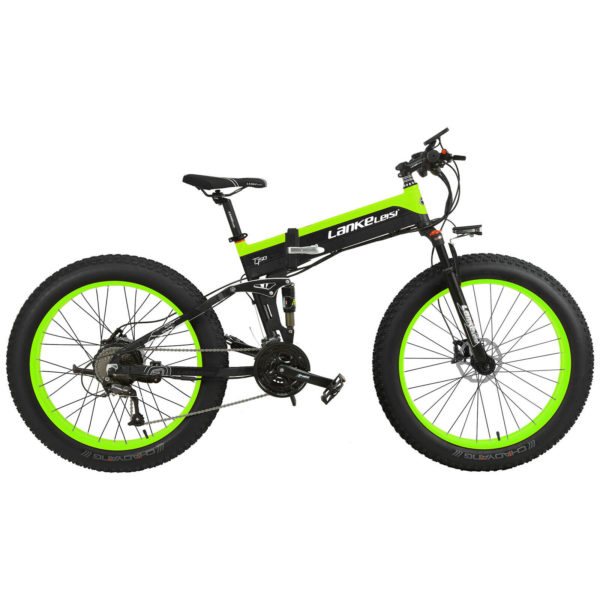 26 Inch Fat Tire Electric Bike 48V 500W Motor Snow Folding Bicycle 40km/h L0S5