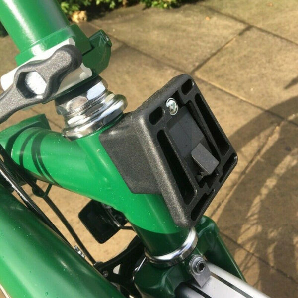 Folding Bike Front Carrier Block Cycling PVC With Screw Lightweight For Brompton