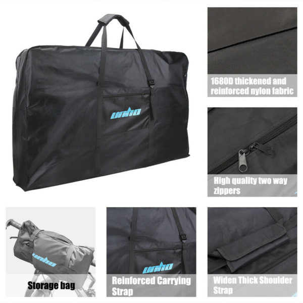 Folding Bike Bicycle Carrier Bag Carry Transport Travel Pouch Case 26 Inch