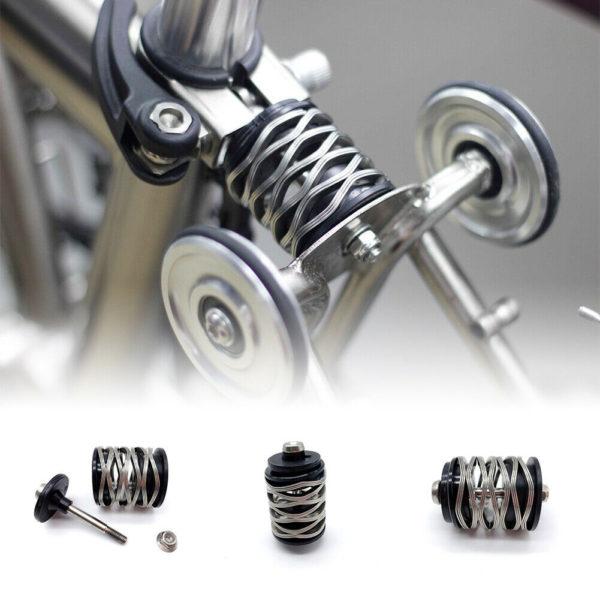 For Brompton Rear Suspension Wave Spring Folding Bike Triple Layer Mini Absorber