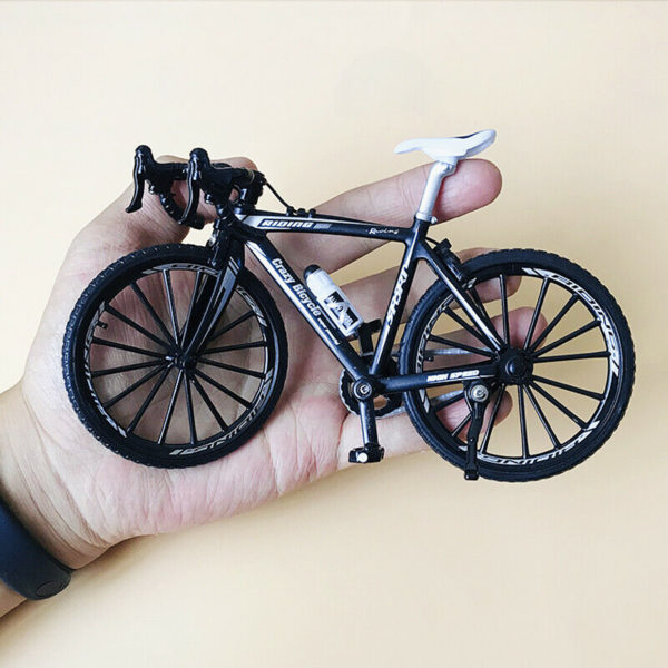 Metal alloy Mini Road Bike Folding Bicycle DUMMY Model Figurine
