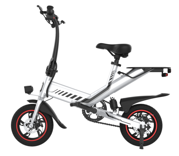 Electric Folding Bicycle 36V 7.5Ah 350W Dual Power Mode C3 City eBike White