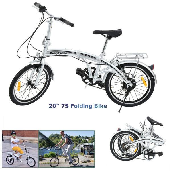 """Ridgeyard 20"""" Folding Bike Foldable Bicycle Men/Women Carbon Steel Bicycle Xmas"""