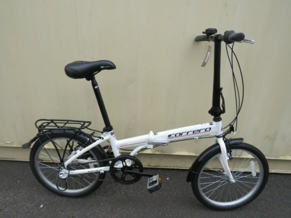 CARRERA TRANSIT FOLDING BIKE ALUMINIUM FRAME 20 INCH WHEELS ref 12685