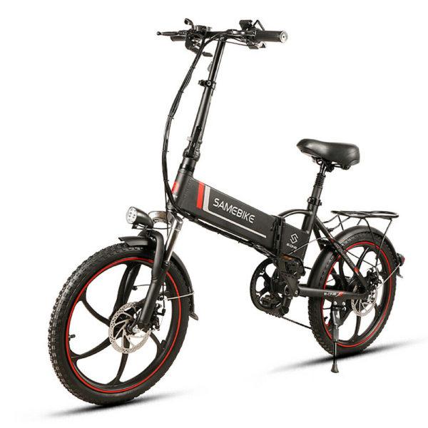 "20"" Electric Mountain Bicycle Folding Bike 48V 350W 35km/h EBike City Black I0T7"