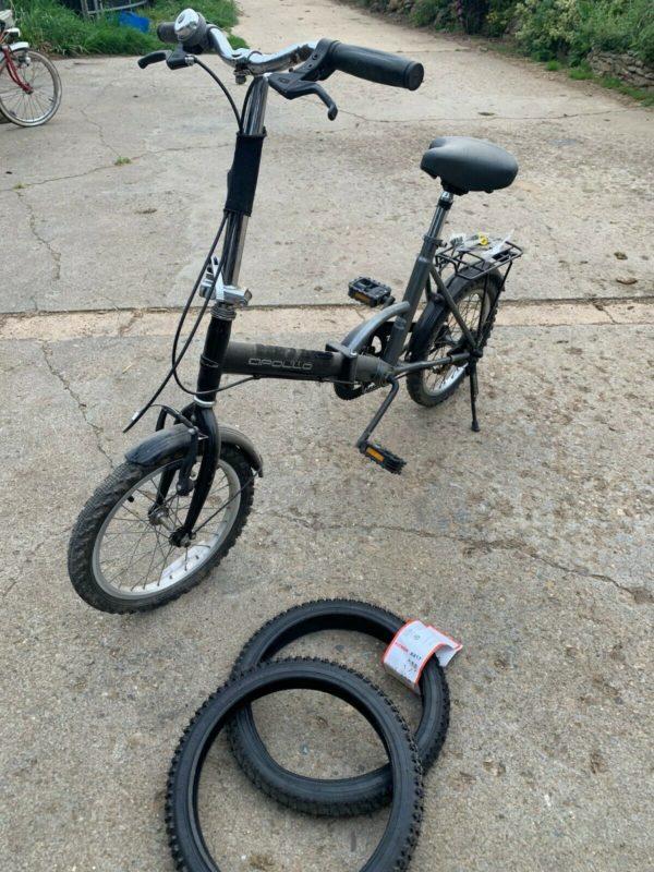 Apollo folding bike bicycle - perfect for camper van motorhome travel halfords