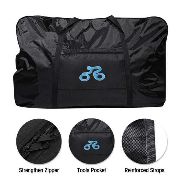 1680D Bike Travel Transport Bag Folding Bike Bicycle Carrier Bag Case Fit 26-29""