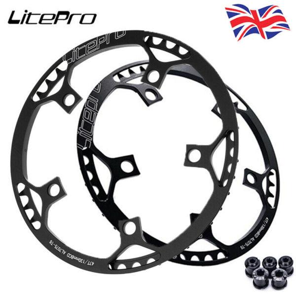 Litepro Road Folding Bike 130BCD 45-58T Chainring Bicycle Chainwheel Bolts CNC
