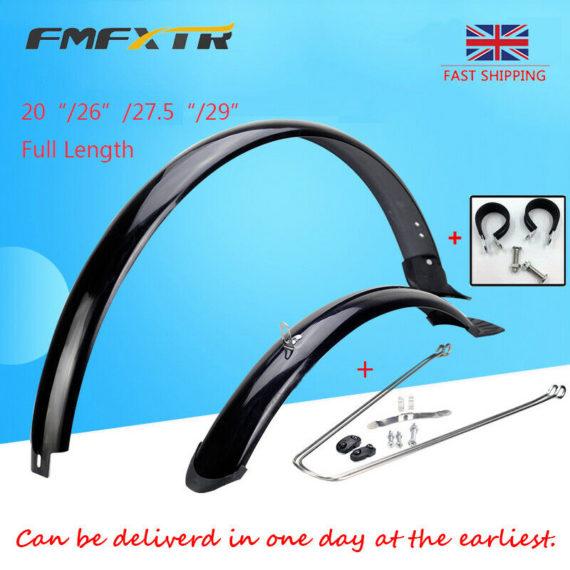"UK Full Length Fender 20/26/27.5/29"" MTB Road Folding Bike Front&Rear Mudguards"