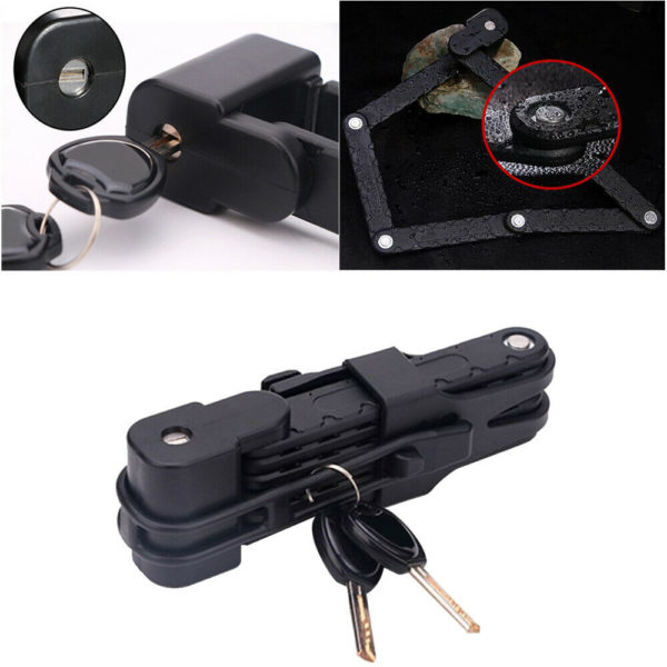 Folding Bike Cable Lock Strong Heavy Duty Cycle Security Bicycle Steel Locks UK