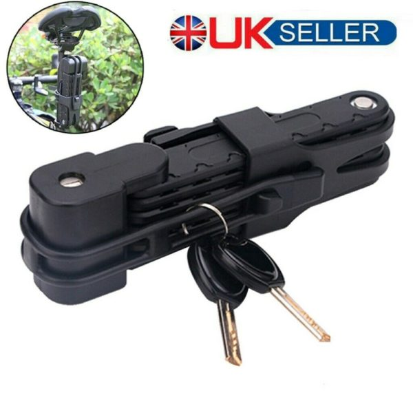 Folding Bicycle Bike Security Cable Lock Anti-Theft Combination Riding Tool