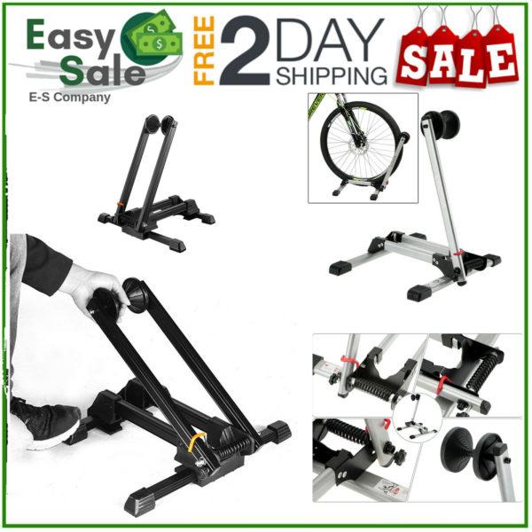 "Folding Bike Stand Floor Parking Rack Bicycle Storage Display Holder 16-29"" E1Y3"